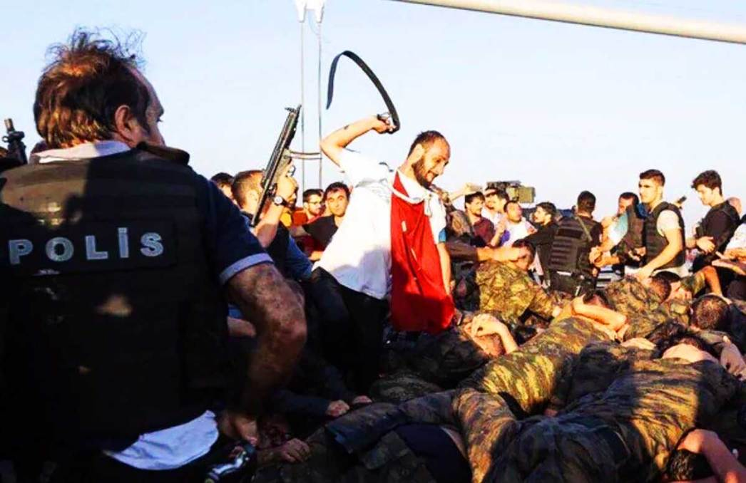 Crowds attack troops after coup attempt