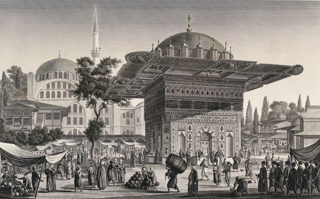 Fountain of Tophane by Antoine Ignace Melling