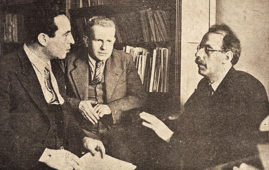 Freundlich, Gleissberg and Aslan Tufan (Reporter of the Turkish Magazine Yedigün)