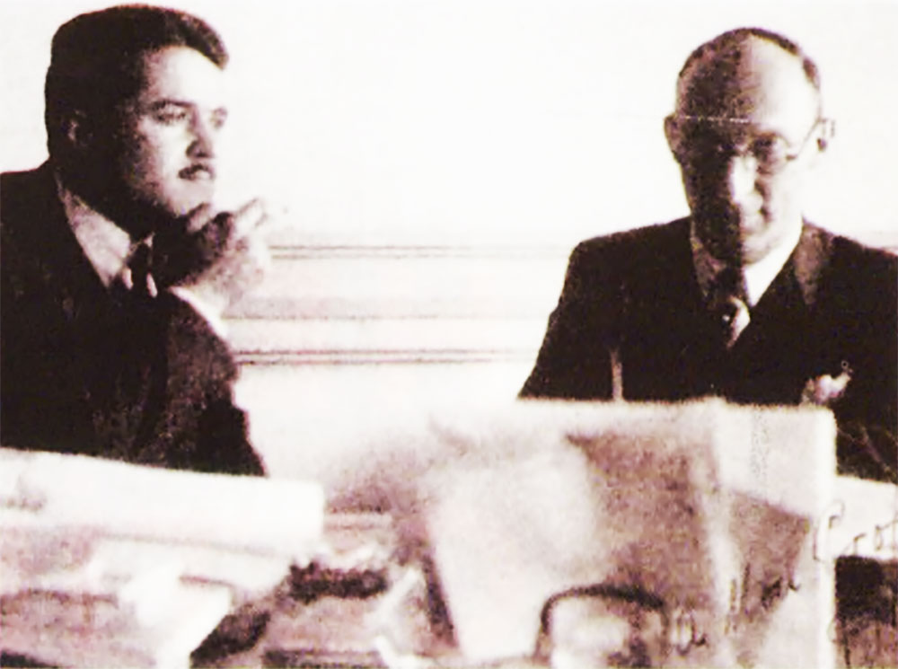 Fritz Neumark and His Turkish Assistant