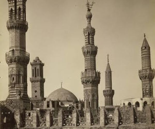 Group of minarets, Cairo, around 1870