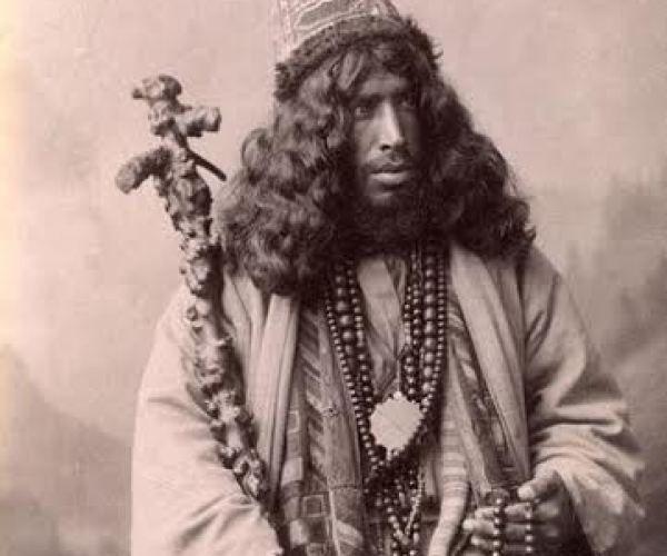Another photograph of the howling dervish, Egypt, dated around 1880