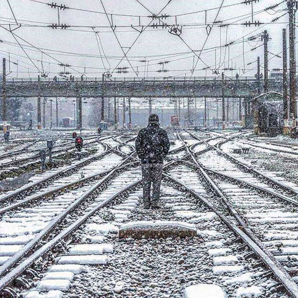 Railroad Junctions Snow Istanbul