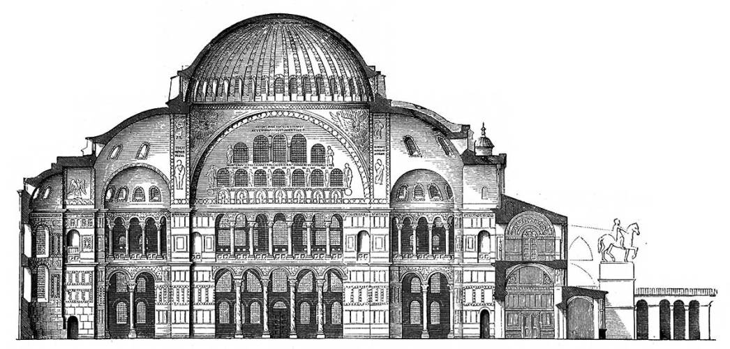 Sophia's section of the Byzantine period