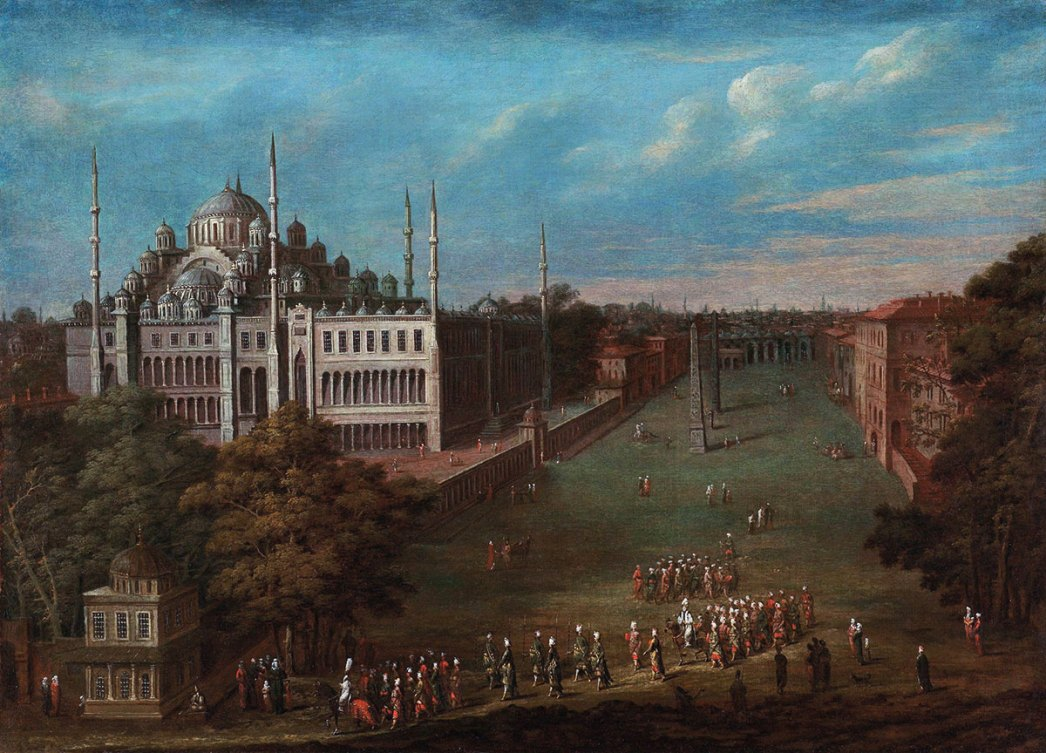 The Blue Mosque and the Hippodrome by Jean-Baptiste Van Mour
