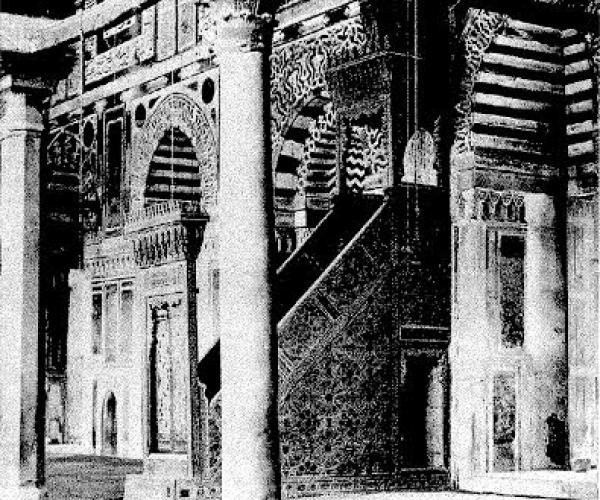 Throne of the Mosque Sultan el Moayed, Cairo, 1875