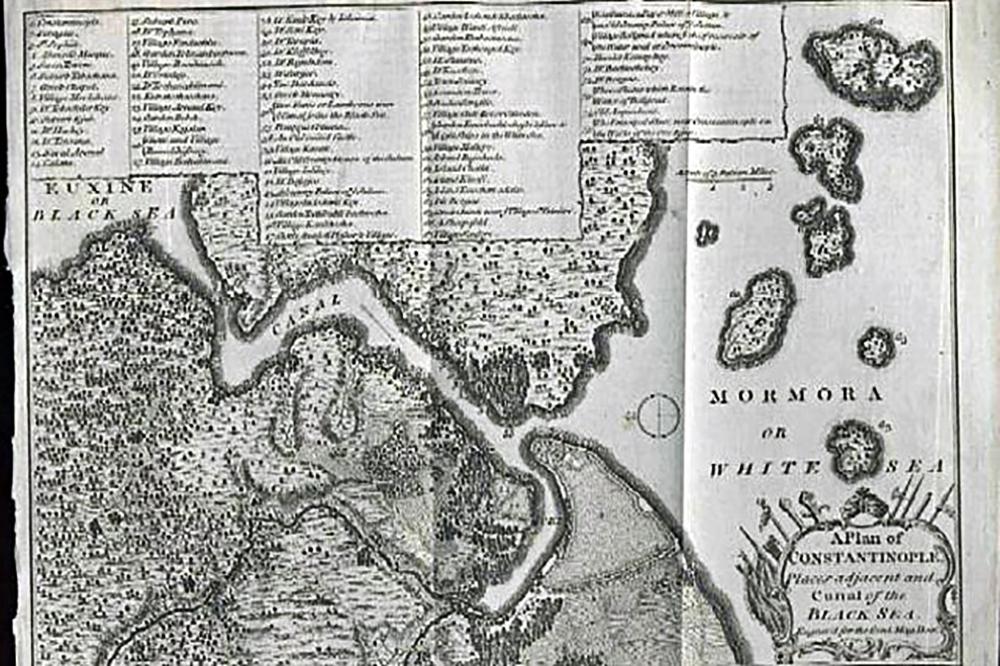 Vordonisi Island Map