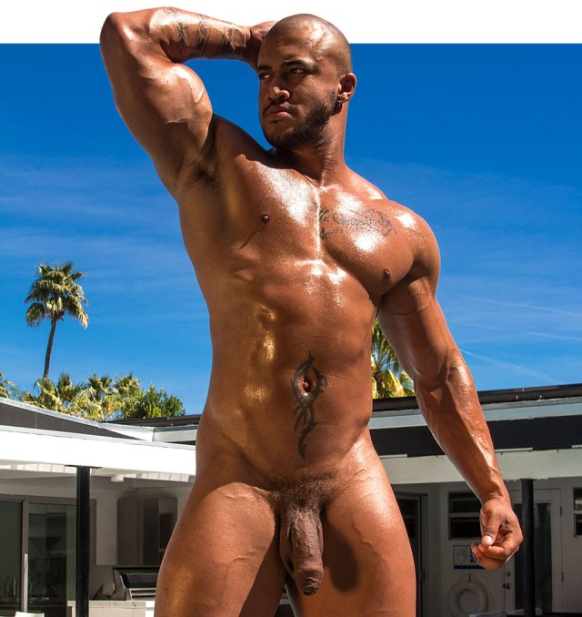 Jason Vario Naked By The Pool