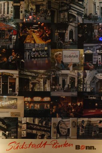 Ein Plakat im Zabi erzählt von der Vergangenheit: So (Kneipen-)vielfältig war die Südstadt einst!