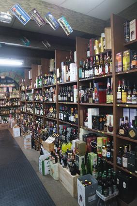 Aber es gibt natürlich mehr: Wein, Sekt, Säfte ...