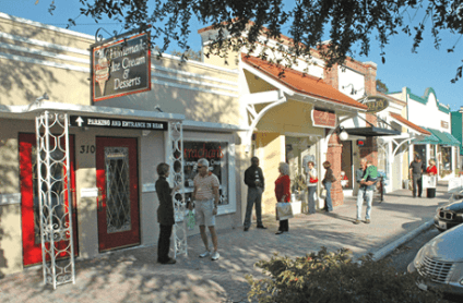dunedin florida shops walkable