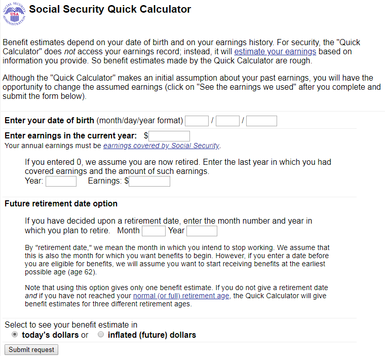 social security calculator