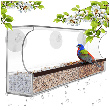 window style bird feeder