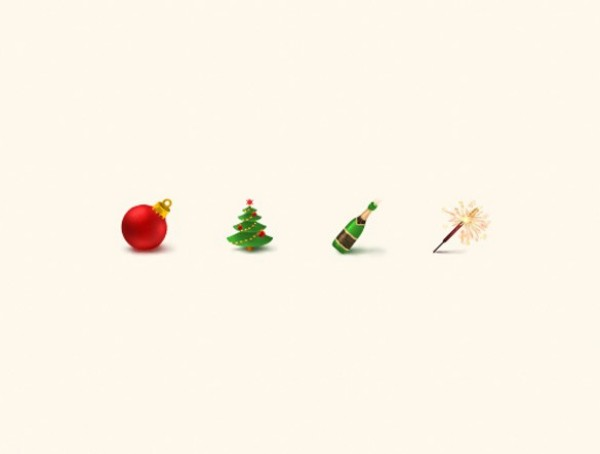 4 Festive Season Christmas Icons Set PNG WeLoveSoLo