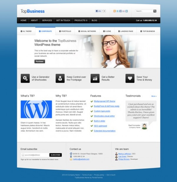 I don't enjoy them, he states flatly. Top Business Wp Website Templates Psd Welovesolo