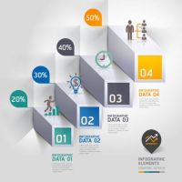 Staircase options Infographics elements vector - WeLoveSoLo