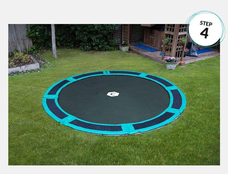 Installing an in ground trampoline step 4