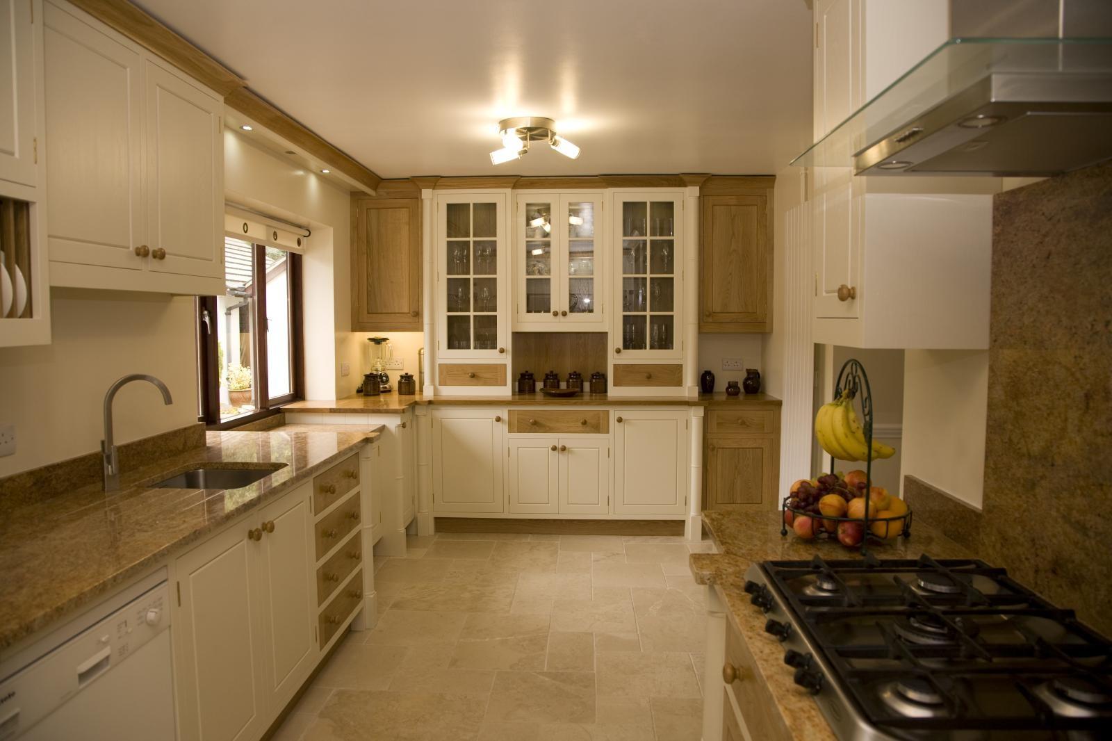 Painted Oak Kitchen Llanrhystud  Mark Stones Welsh