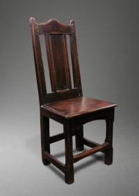 ANTIQUE WELSH STICK CHAIR stick chair with a single plank ...