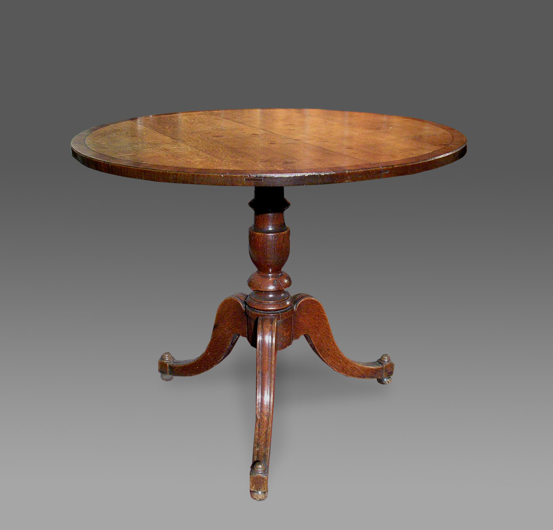 ANTIQUE OAK PEDESTAL TABLE Welsh Antique Tables from