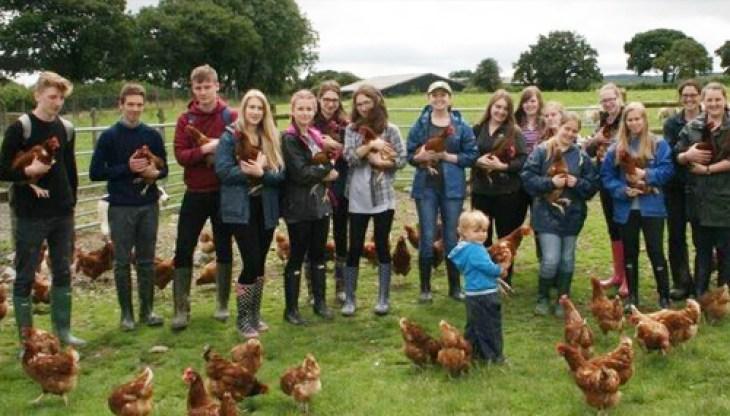 Aspiring farm vets visit to Carmarthenshire