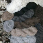 natural colour wool skeins