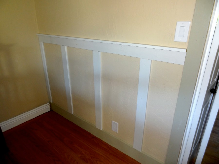 dining room board and batten wainscoting