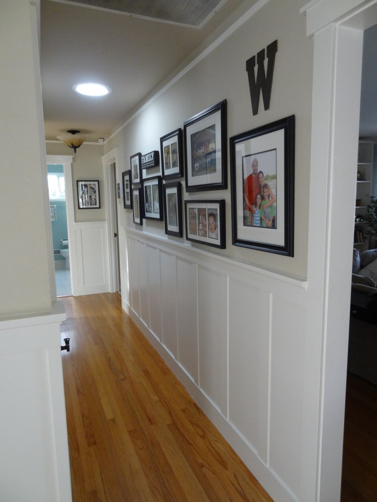 hallway wainscoting, board and batten,