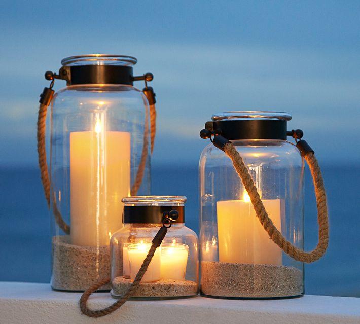 outdoor lanterns, outdoor candles