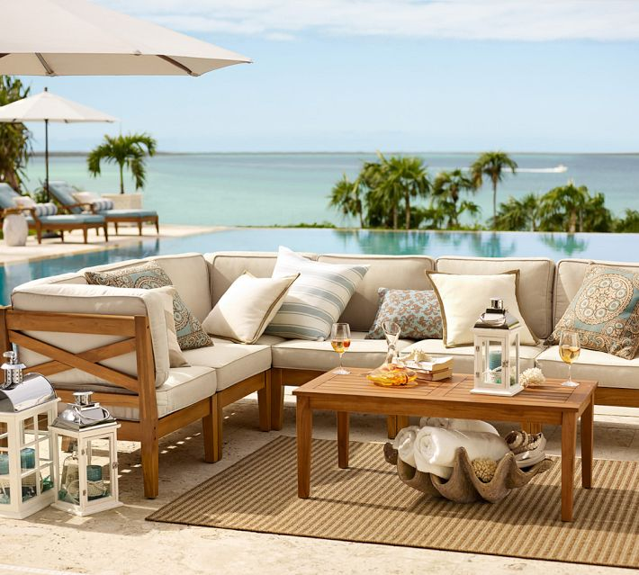 Pottery Barn outdoor seating area