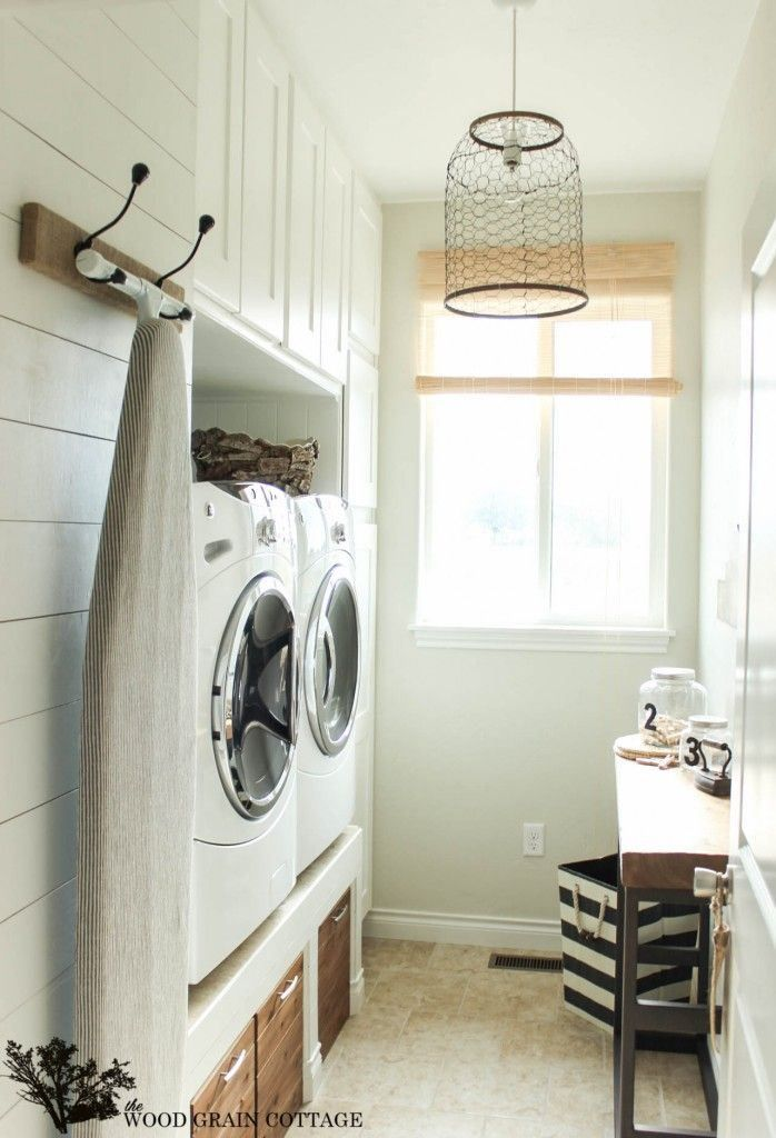 paneled laundry room
