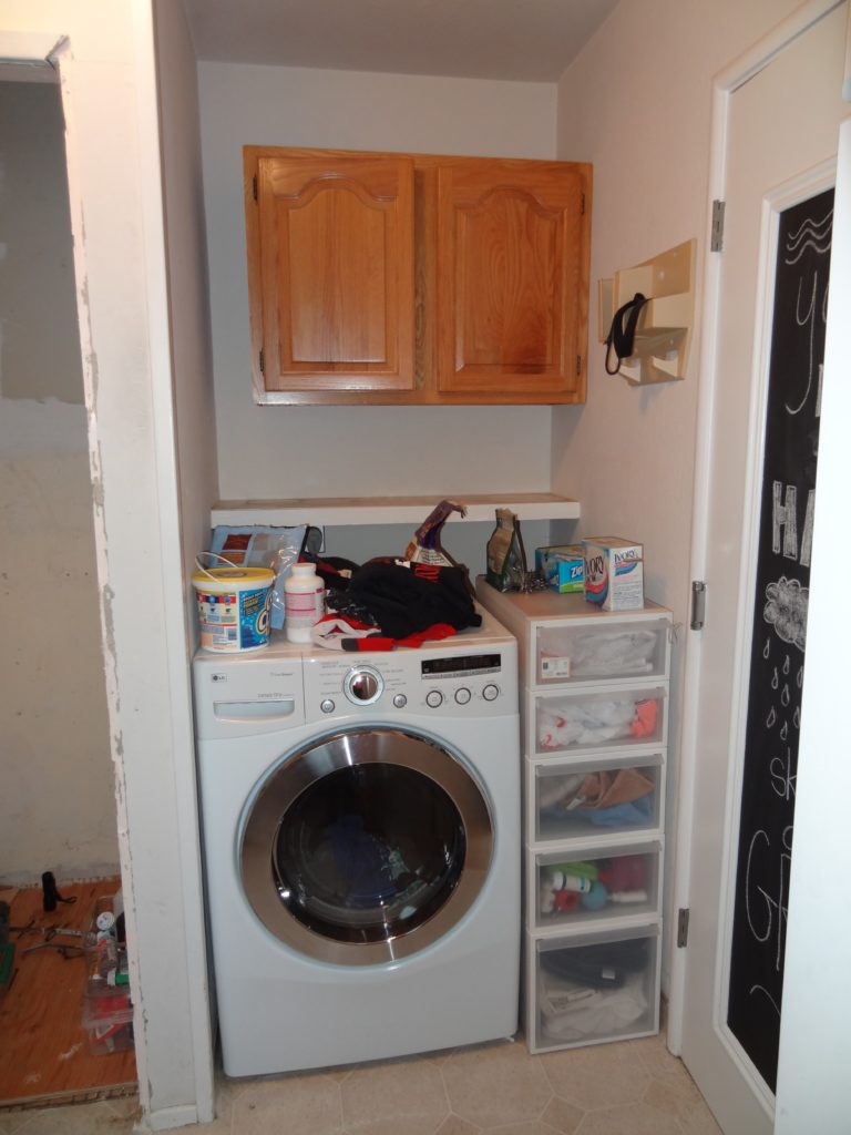 laundry makeover before