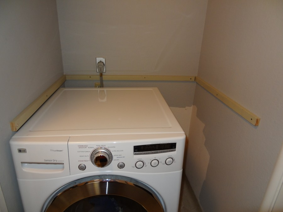laundry countertop installation cleats