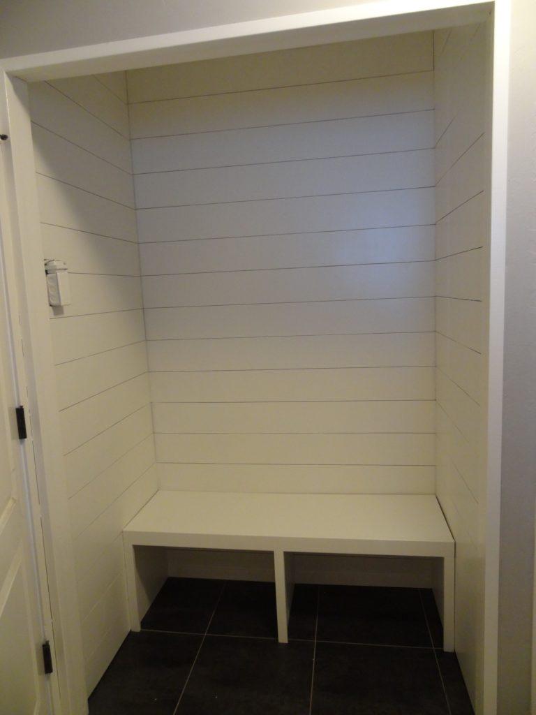 mudroom closet bench