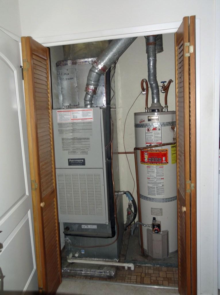 utility closet, mudroom before