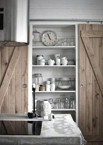 industrial farmhouse pantry