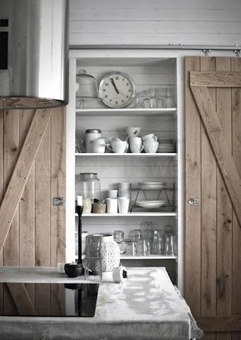 industrial farmhouse pantry