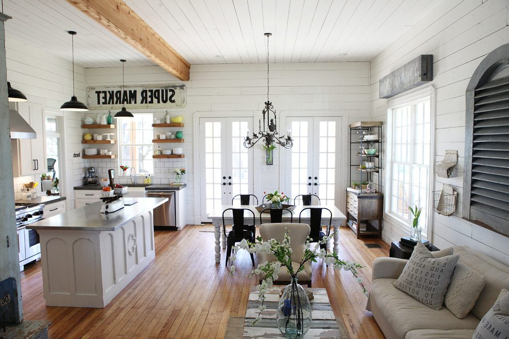 Industrial-farmhouse-decor-living-room-shabby-chic-style-with-wood