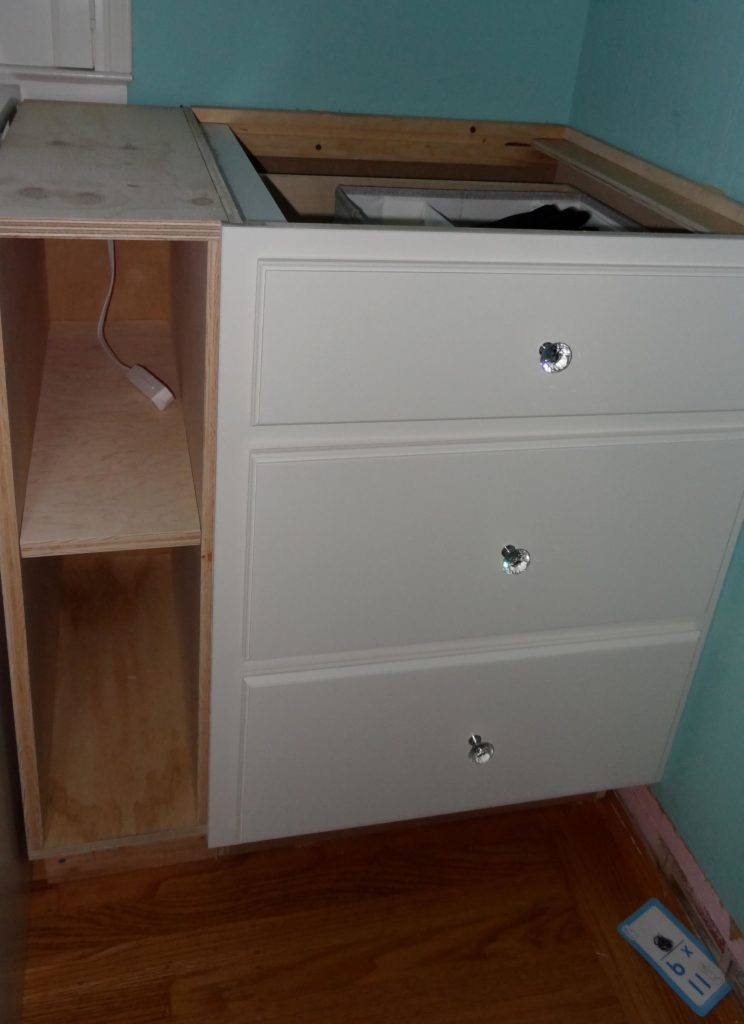 DIY built-in drawers and cabinets for girls bedroom