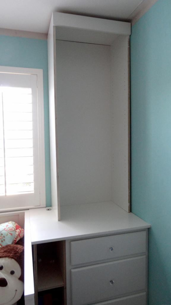 built-in bookcases bedroom