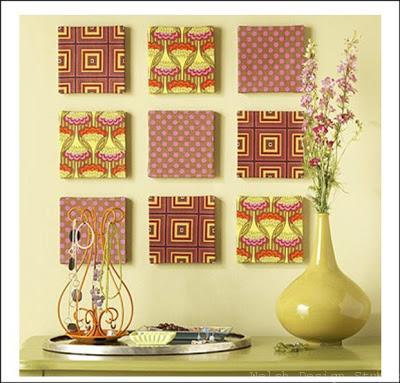 easy diy fabric canvas art
