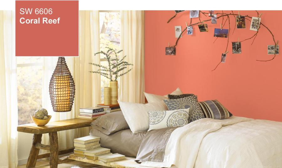 sherwin williams coral reef bedroom