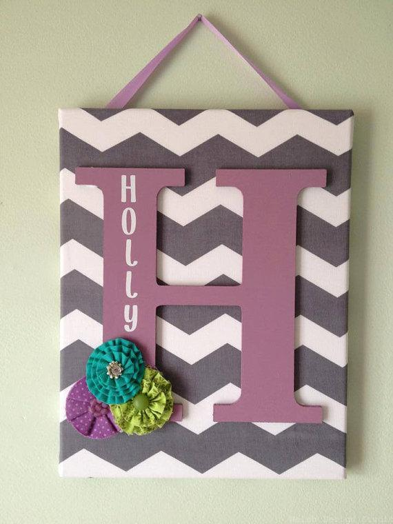 easy DIY fabric wall canvas art