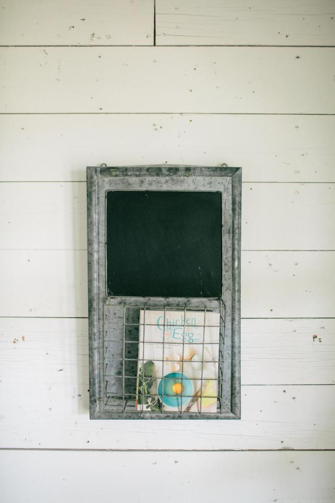 magazine holder with chalkboard fixer upper magnolia market