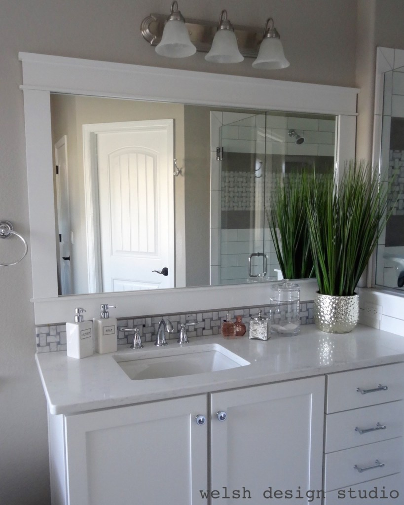 DIY Framed Bathroom Mirror
