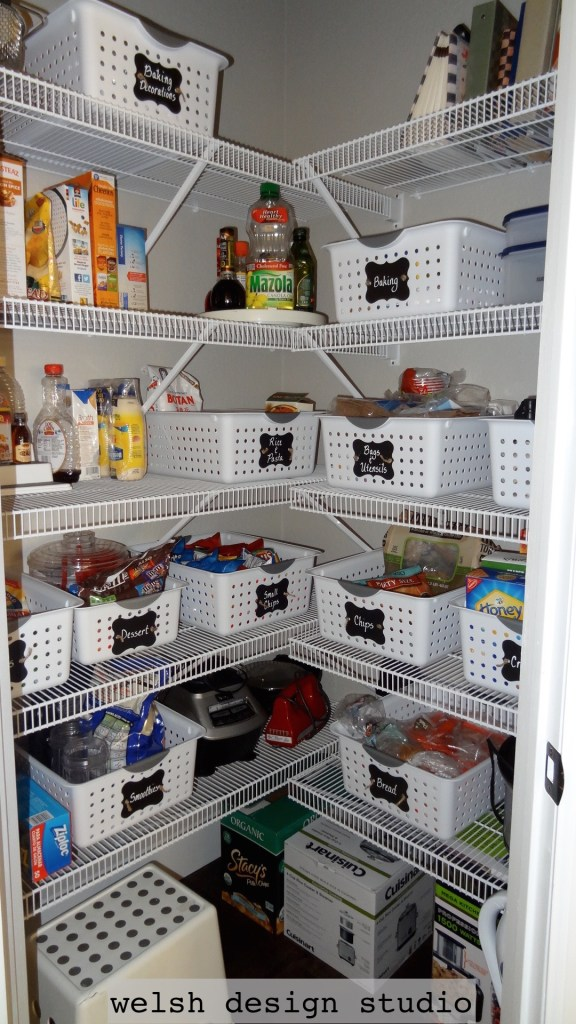 pantry organization ideas using baskets