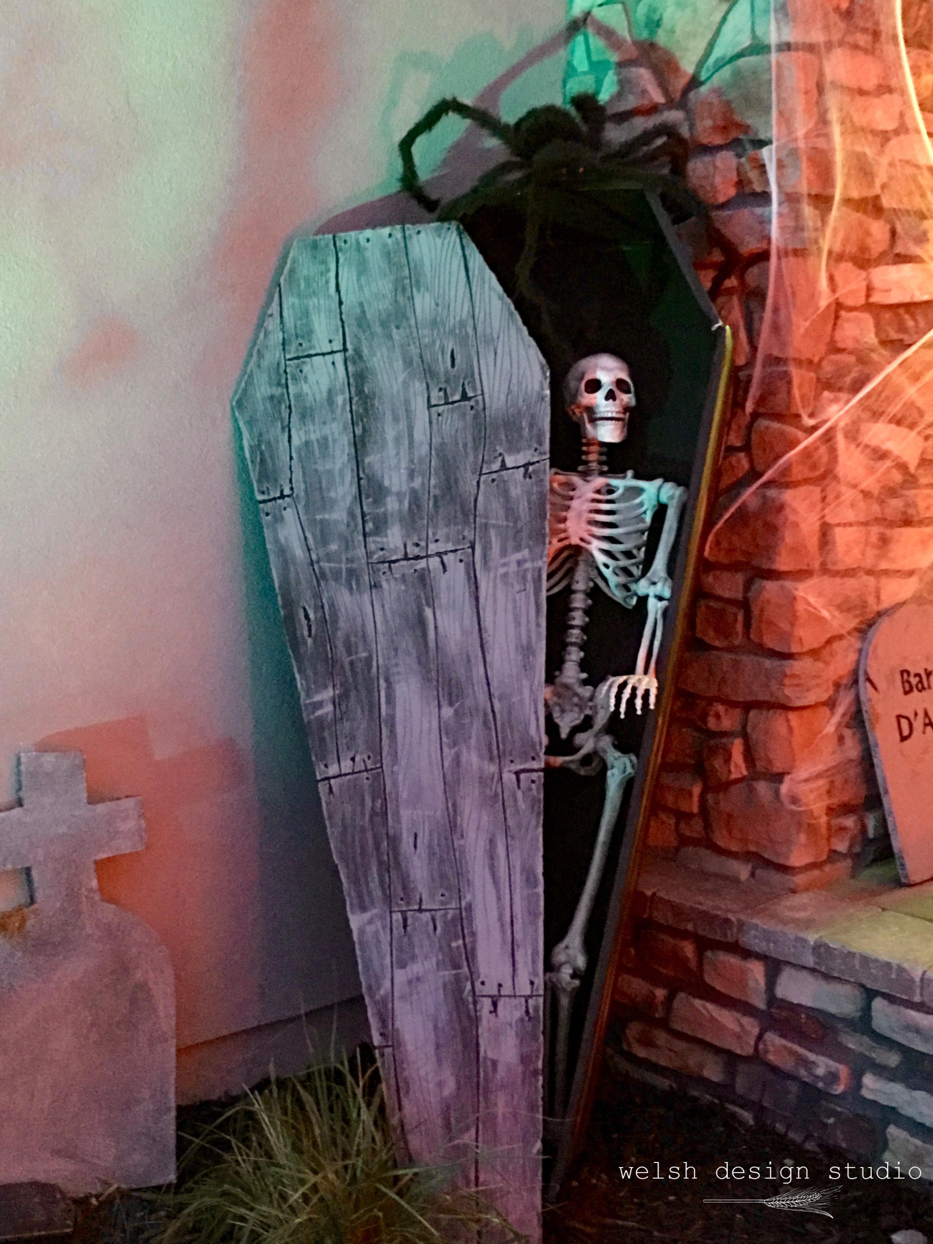 Halloween foam coffin decoration