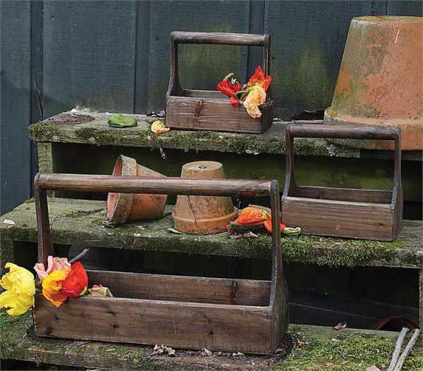 wood planter baskets
