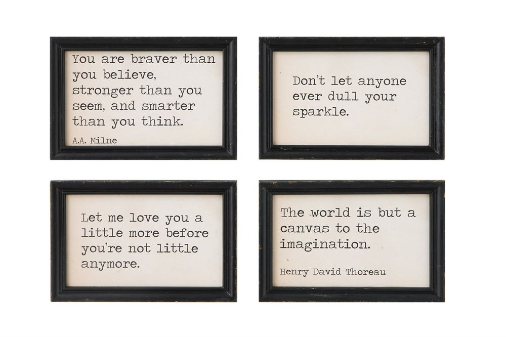 Wood Framed Wall Decor With Sayings