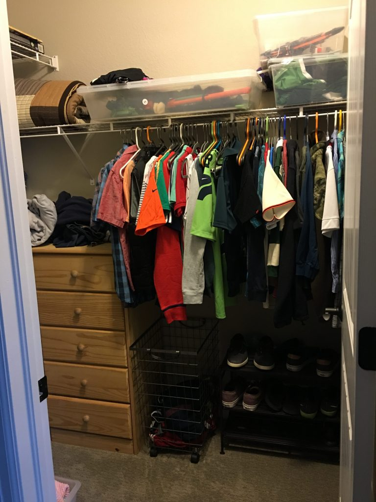 elfa closet makeover before
